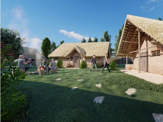 Prikaz budućeg praistorijskog naselja