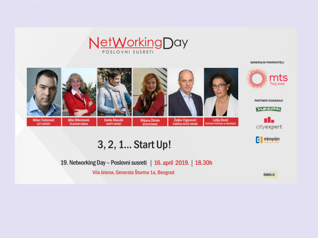 3, 2, 1... Start Up! - Networking Day 16. aprila u Beogradu