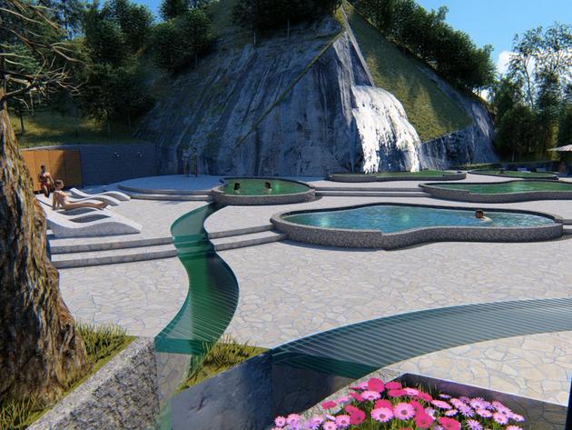 Budući izgled vodopada i bazena