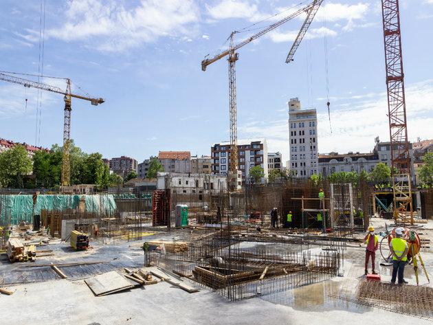 Novi Dorcol - Bau des Komplexes