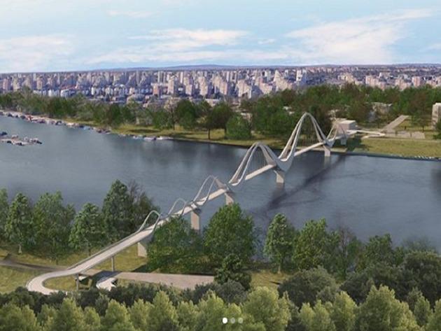 The preliminary design of the new pedestrian-cycling bridge