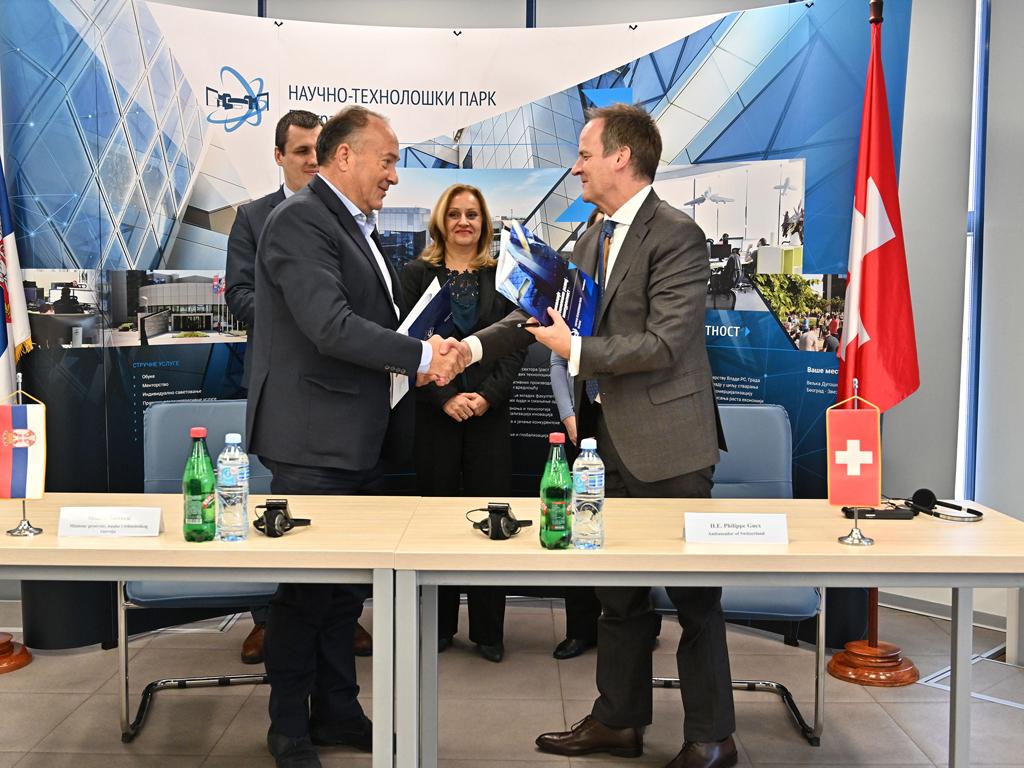Vlada Švajcarske Konfederacije donira 3,75 miliona franaka za razvoj naučno-tehnoloških parkova u Srbiji
