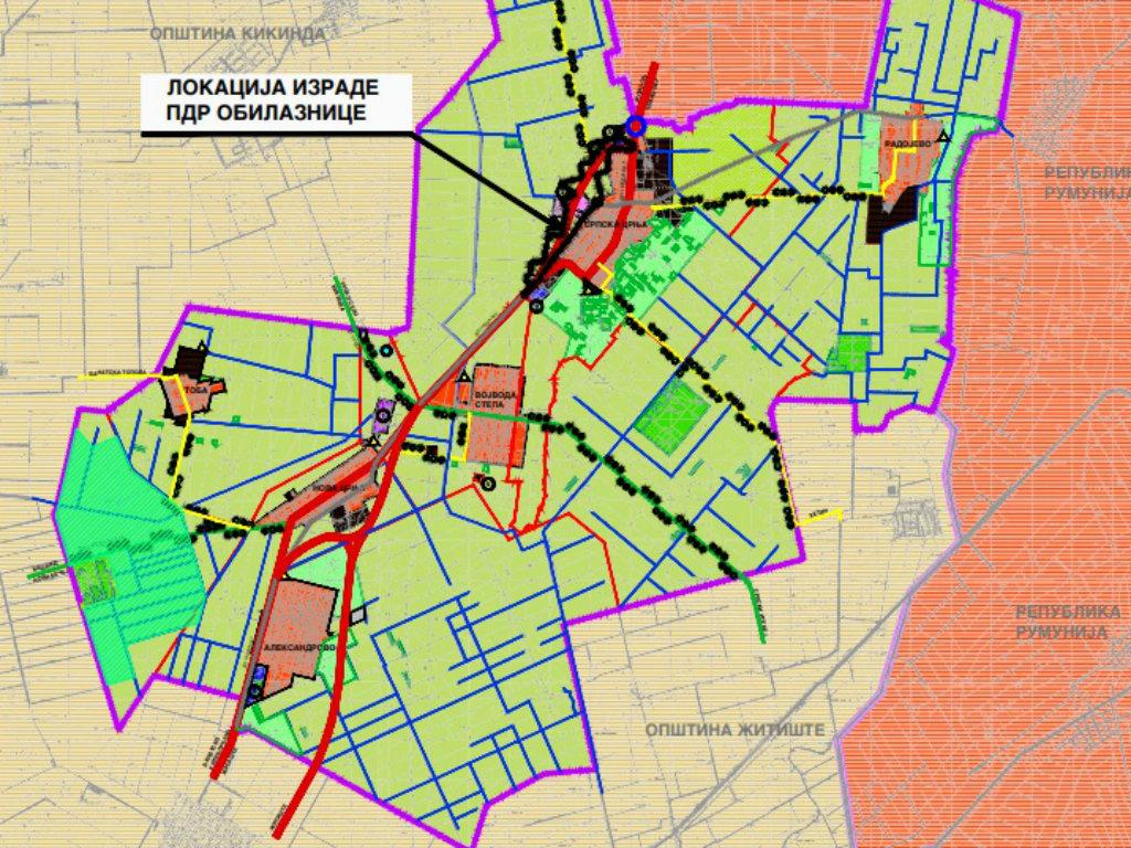 Plan detaljne regulacije obilaznice državnog puta IV reda oko Srpske Crnje na ranom uvidu do 8. septembra