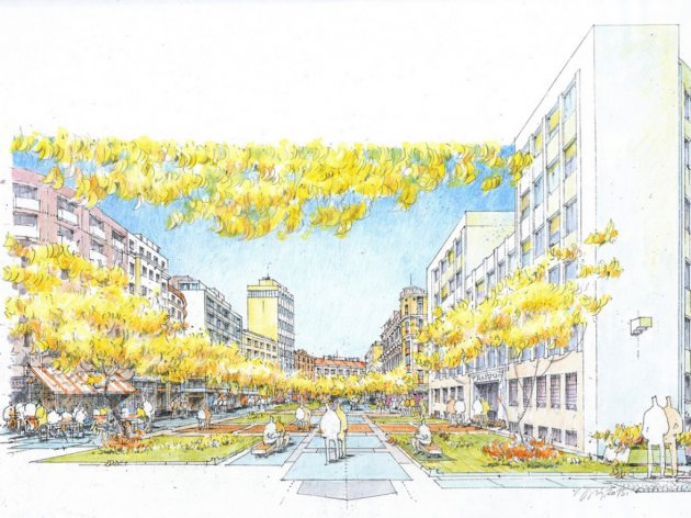 Straße Obilicev venac im neuen Glanz