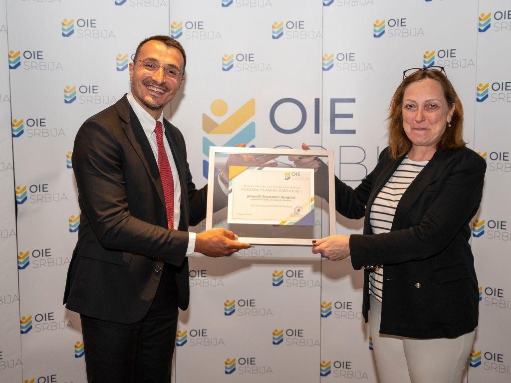 Direktorka EBRD Žužana Hargitai postala prvi počasni član OIE Srbija
