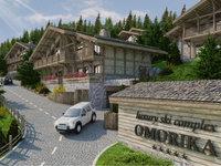 Baubeginn für Luxus-Skikomplexes Omorika im Kopaonik im April - Apartments und Villen im alpinen Stil mit separaten separaten Ski-Abstellräumen und Mini-Spa-Zentren