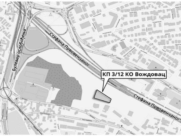 Stadt verkauft einen Grundstück unweit vom Kreisverkehrsplatz Autokomanda - Startpreis bei 173 Mio. Dinar