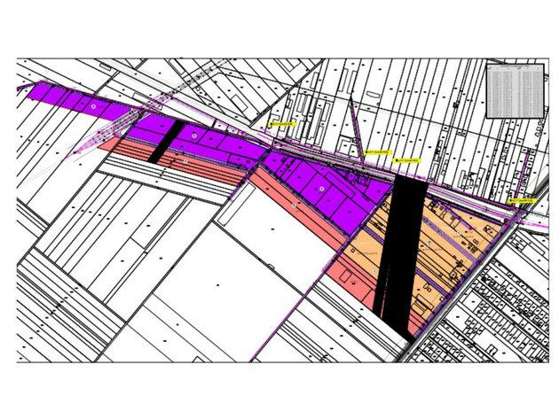 Ljubičastim polsovna zona 1, roze poslovna zona dva, narandžastim mešovita zona
