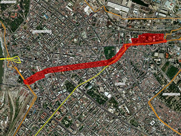 Dve tunelske cevi spojiće Savsku i Dunavsku padinu - Ulaz kod Ekonomskog fakulteta i MUP-a u Bulevaru despota Stefana