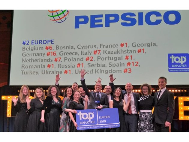 Kompanija PepsiCo Zapadni Balkan ponovo nagrađena Top Employer priznanjem