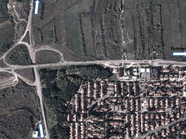 "Aktuelle Situation auf dem Autobahnkreuz ""Petlovo brdo"""