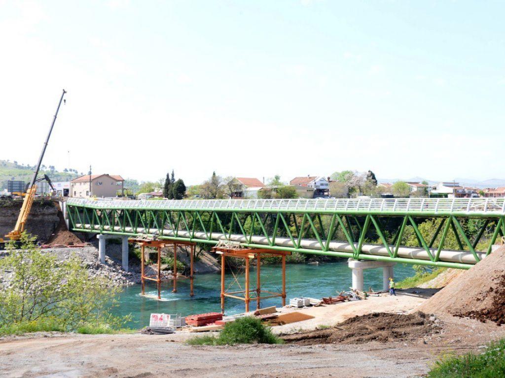 Podgorica će 9. maja dobiti novi pješački most preko Morače