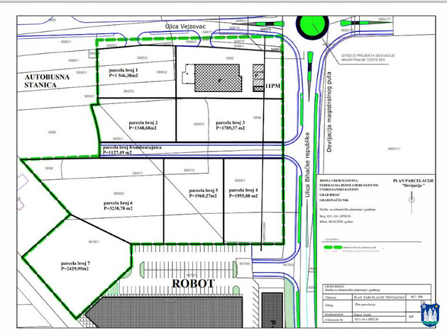 Bihać usvaja Plan parcelacije Devijacija - Na prostoru od 1,84 ha planirana izgradnja robne kuće, hotela, istraživačkog centra...