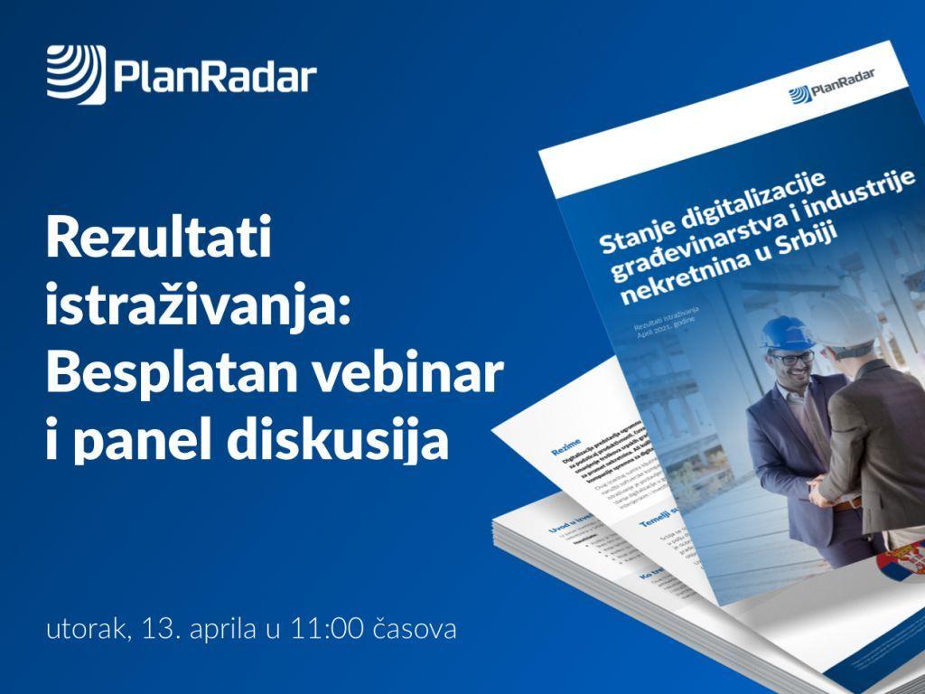Rezultati istraživanja o stepenu digitalizacije u građevinarstvu i industriji nekretnina u Srbiji - Besplatan vebinar i stručna panel diskusija
