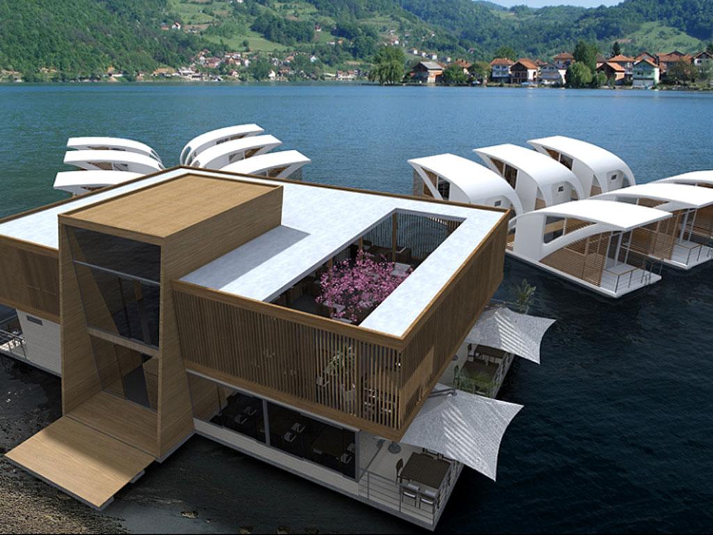 Raj na Zvorničkom jezeru - Mali Zvornik spremio projekat plutajućeg hotela sa odvojenim apartmanima, konferencijskom salom, restoranom...