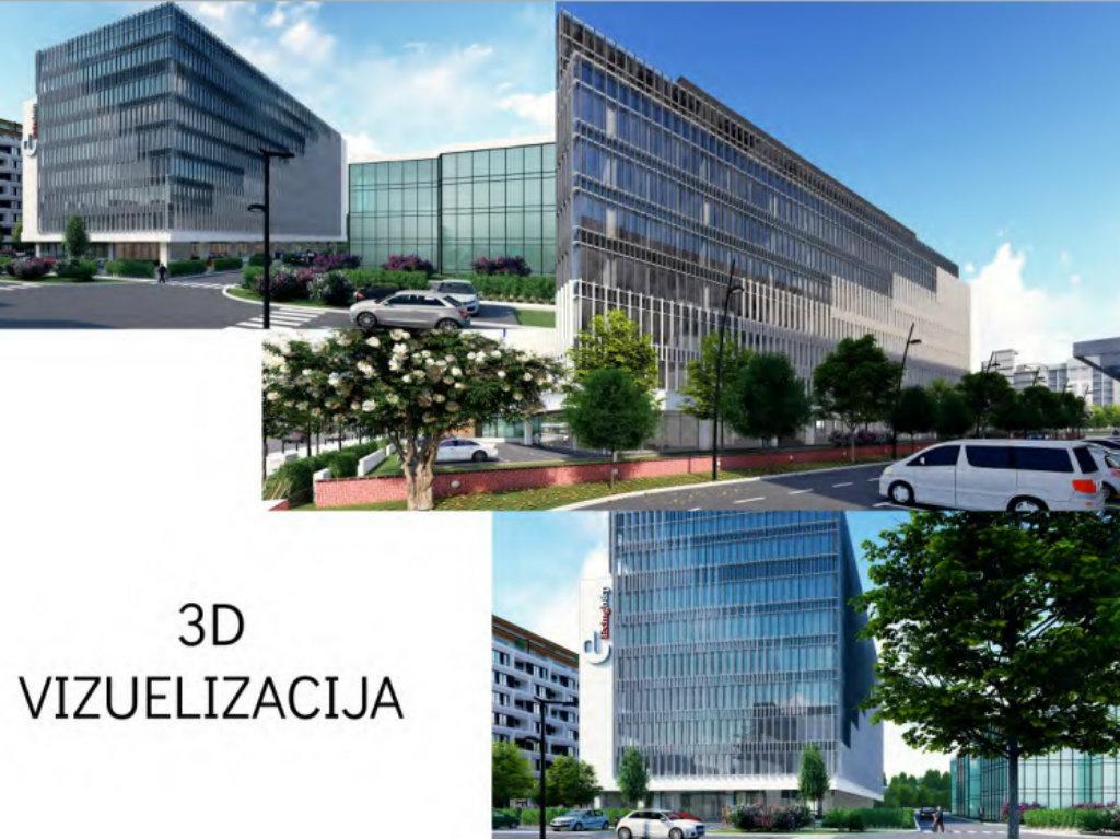 U planu poslovna zgrada u Bulevaru heroja sa Košara na Novom Beogradu