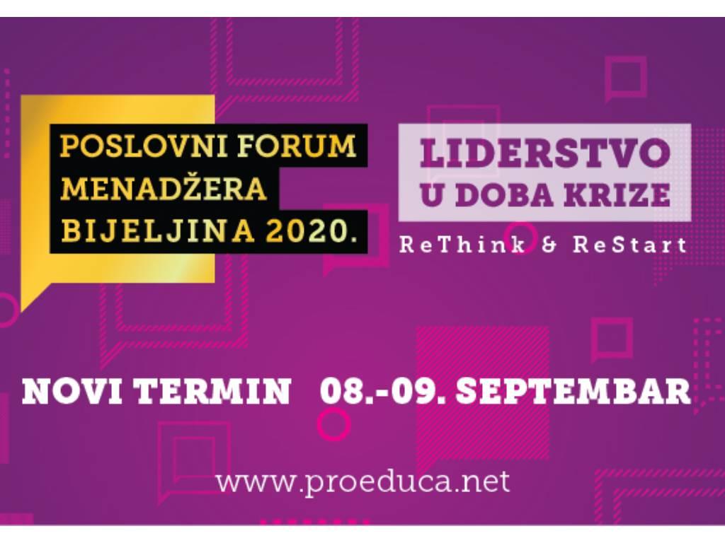 Novi termin Poslovnog foruma menadžera Bijeljina od 8. do 10. septembra