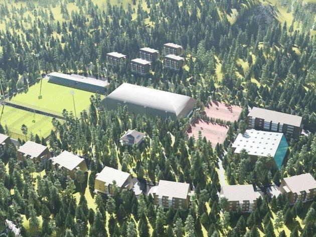 Niču objekti budućeg poslovno-sportskog centra na Babinom Dolu u općini Trnovo