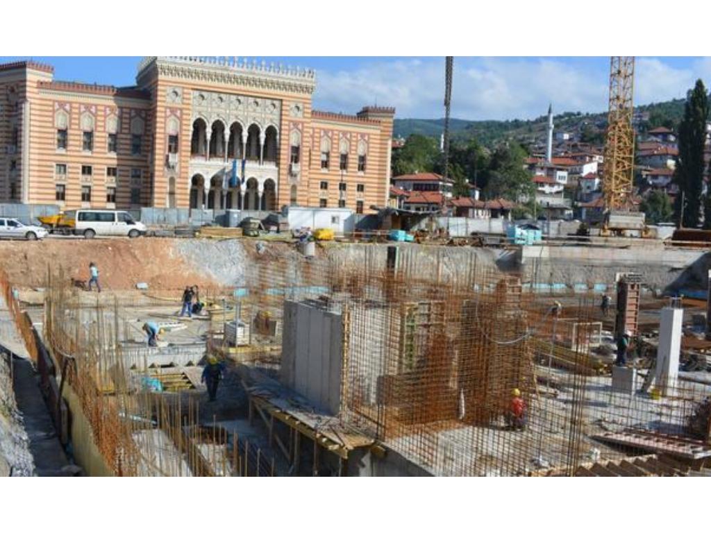 Radovi na novoj podzemnoj garaži u centru Sarajeva gotovi u novembru - Uskoro popločavanje i rad na saobraćajnicama