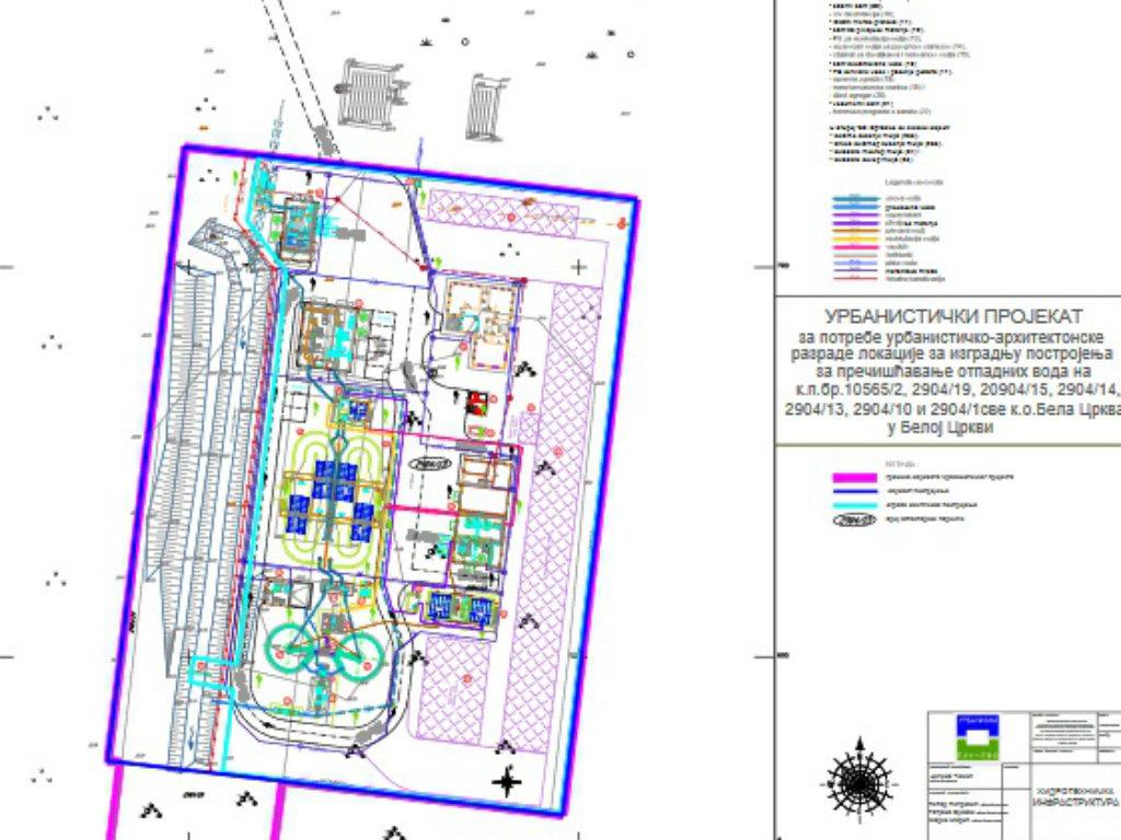 Postrojanje za prešičćavanje otpadnih voda u Beloj Crkvi gradiće se u fazama - Kapacitet 68,25 l/s