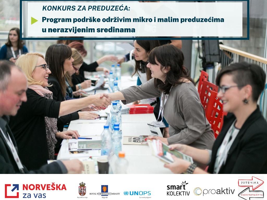 Otvoren konkurs za Program stručne i finansijske podrške održivim mikro i malim preduzećima u nerazvijenim sredinama