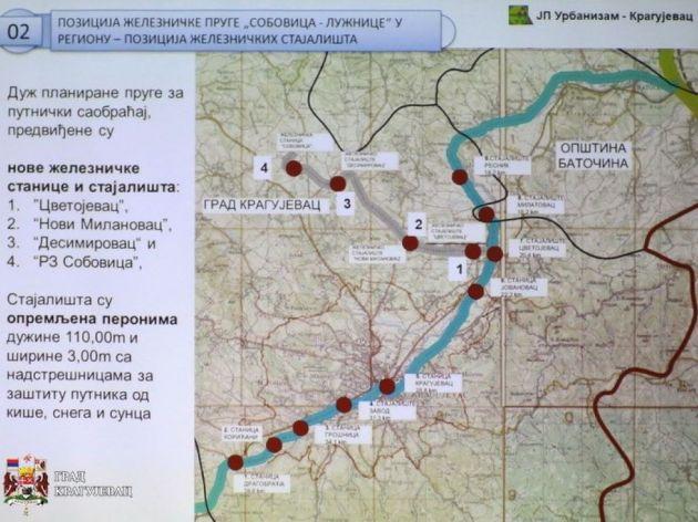 Predviđena trasa sa novim stajalištima