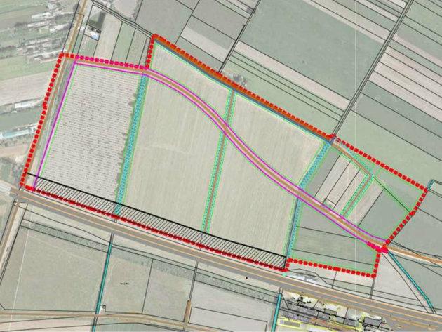 Entwurf des neuen Gewerbegebiets Sever 3