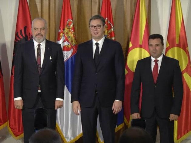 Vučić, Rama i Zaev dogovorili konkretne mere za razvoj zajedničkog tržišta - Radne dozvole, priznavanje kvalifikacija, brz protok robe...