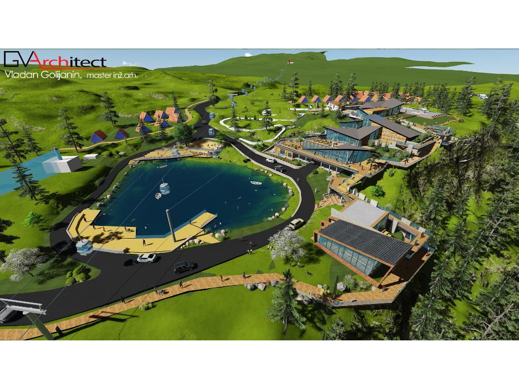 Odmor, sport i zabava na jednom mjestu - Pogledajte kako bi mogao da izgleda turističko-rekreativni centar Ravna planina na Palama (FOTO)
