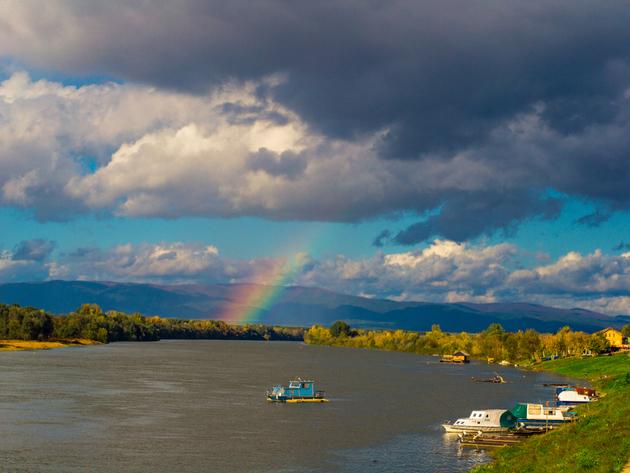 The Sava river in Gradiska