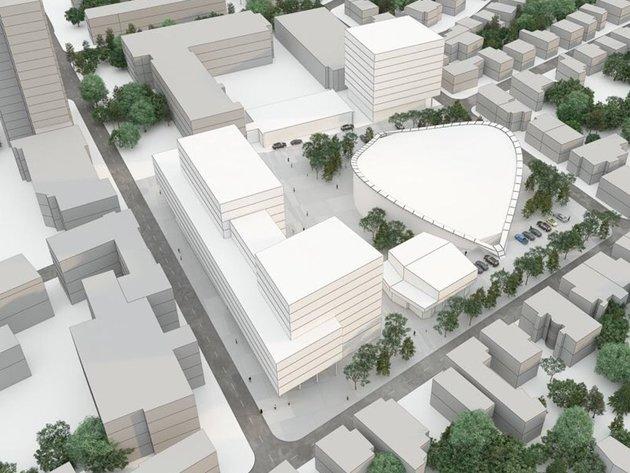 Ceo kompleks sa tržnim centrom i stambeno-poslovnim prostorom