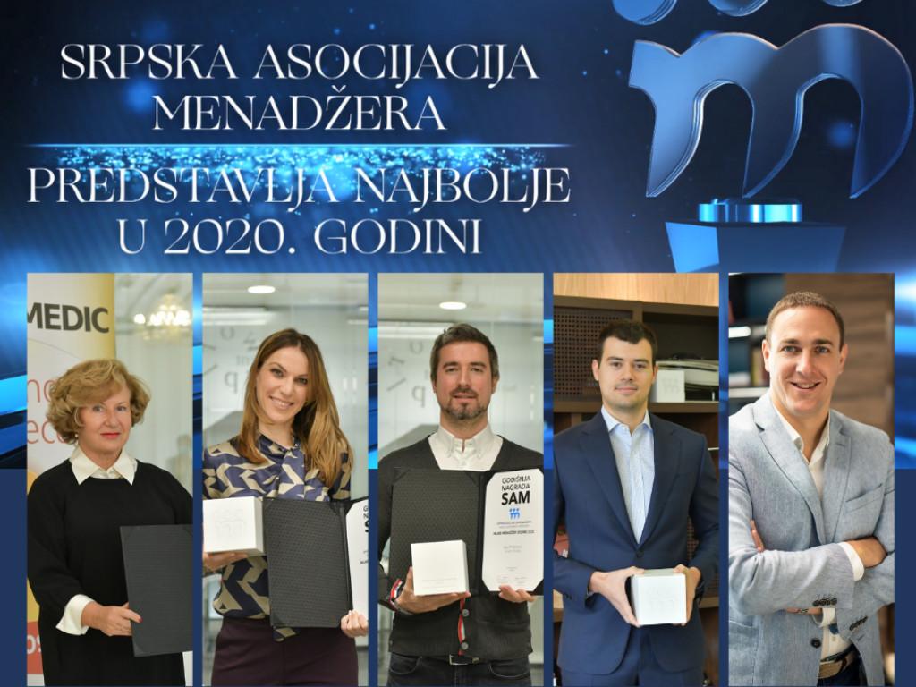 Dodeljene godišnje nagrade Srpske asocijacije menadžera
