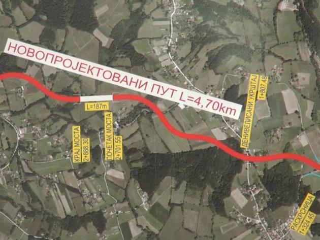 Gornji Milanovac-Takovo Interchange access road presented – Works to begin in April