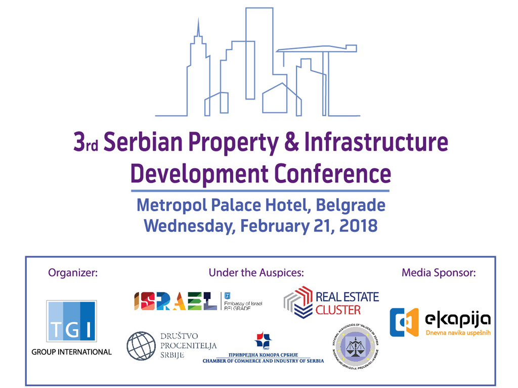 Treća srpska konferencija o razvoju nekretnina i infrastrukture 21. februara u Beogradu
