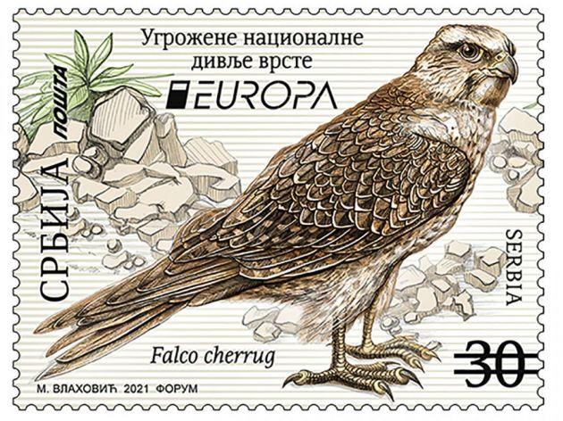 """Serbischer """"Sakerfalke"""" unter den 5. schönsten Briefmarken Europas"""