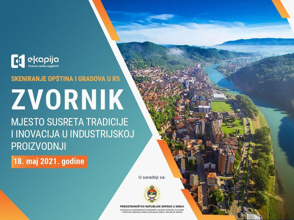 Mjesto susreta tradicije i inovacija u industrijskoj proizvodnji - Zvornik u projektu Skeniranje opština i gradova RS