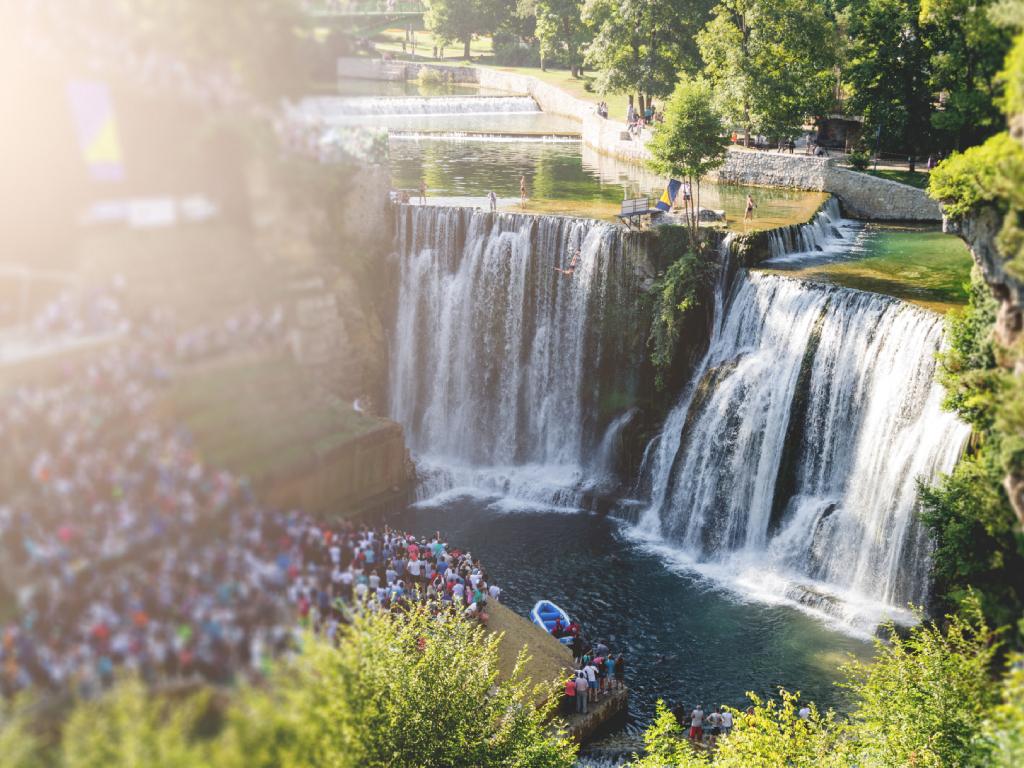 Peti međunarodni skokovi s vodopada u Jajcu 17. avgusta