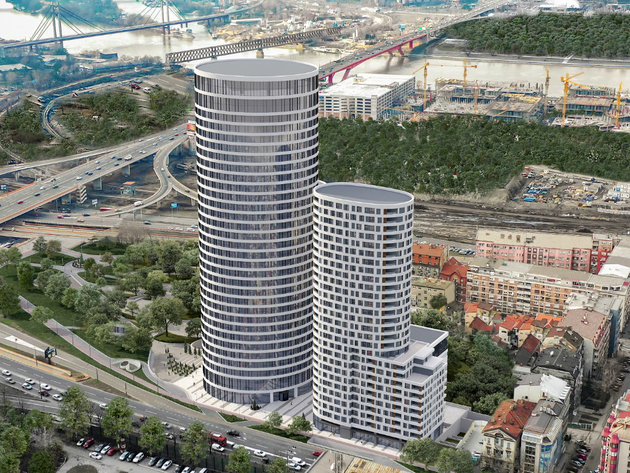 Construction of New Business Tower in Belgrade Worth EUR 73 Million Begins – Skyline Omnia to be 132 Meters Tall