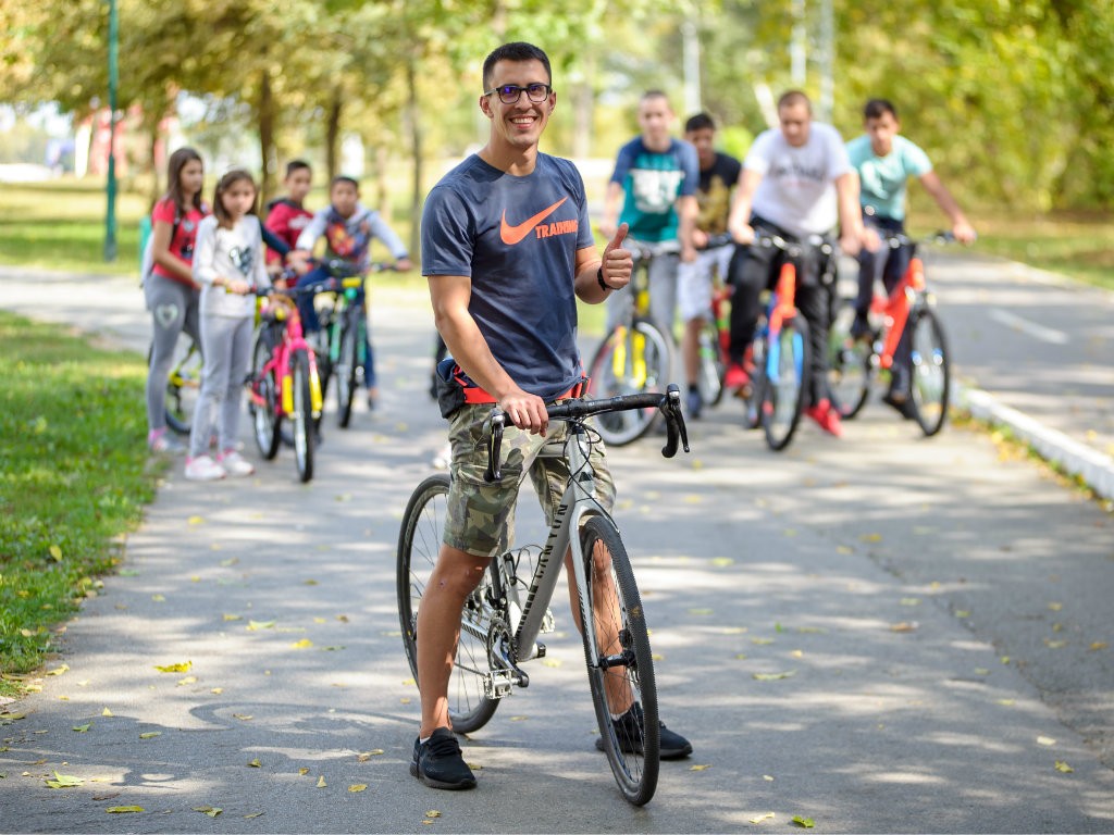 Skyline Belgrade donirao bicikle deci iz Prihvatilišta u Beogradu