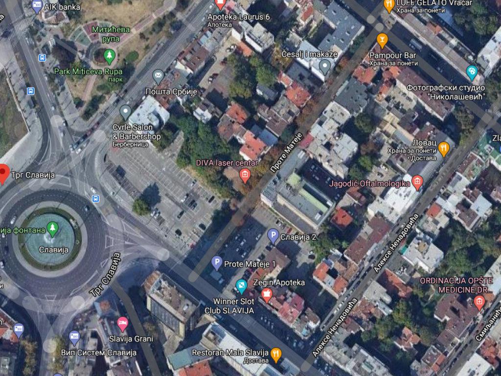Na mestu parkinga na Slaviji u planu gradnja kulturnog centra i komercijalnog prostora