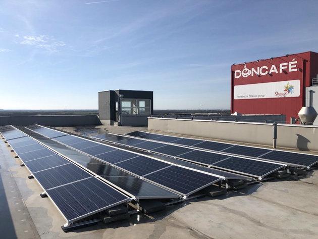 Solarni paneli na Doncafé fabrici u Šimanovcima