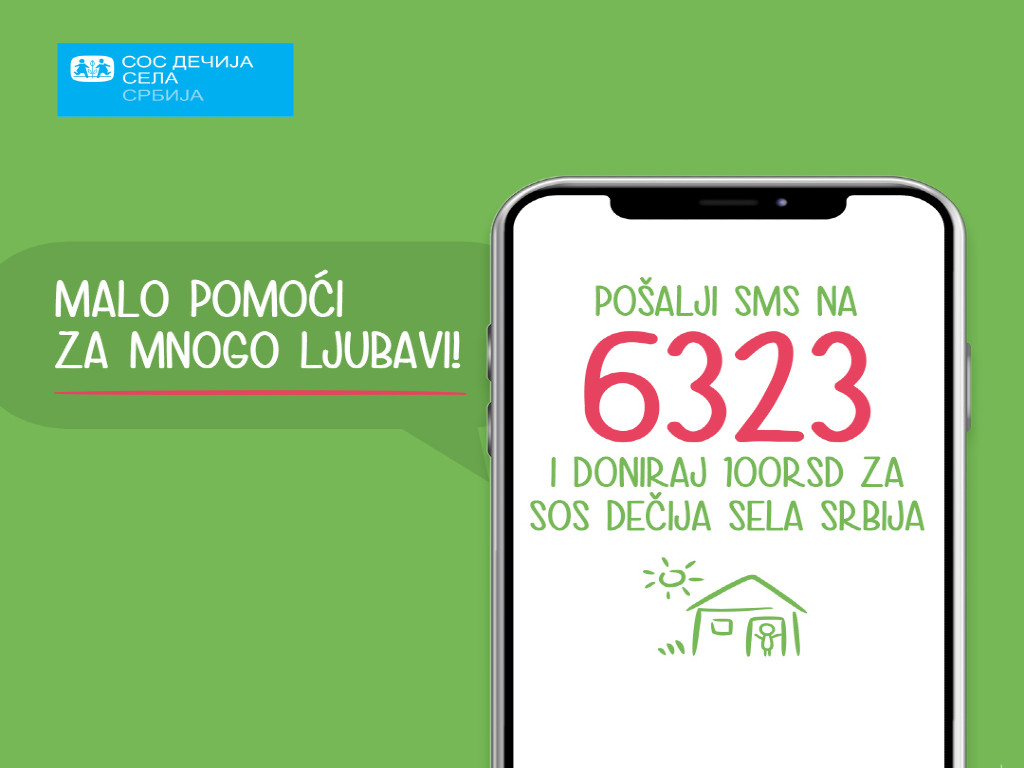 Fondacija SOS Dečija sela Srbija ponovo aktivirala donatorski SMS broj