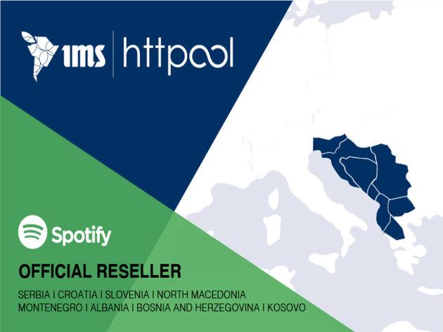 Httpool ekskluzivni zastupnik Spotify-a za oglasna rešenja za region