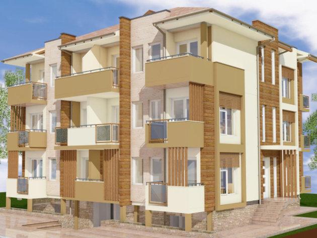 Neue Apartmentanlage am Silbersee - Dreistöckiges Gebäude neben dem vorhandenen Pool