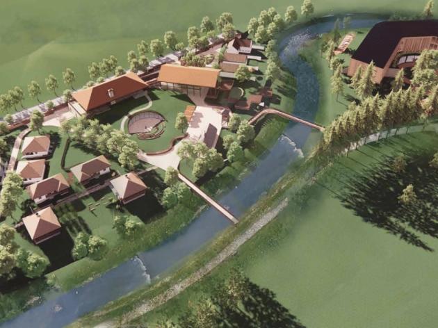 In Kosjeric beginnt der Bau eines einzigartigen touristischen Bildungskomplexes Srpsko selo - Traditionelle serbische Architektur, Garten mit Pflanzen aus serbischer Poesie und Hotel mit Spa-Zentrum