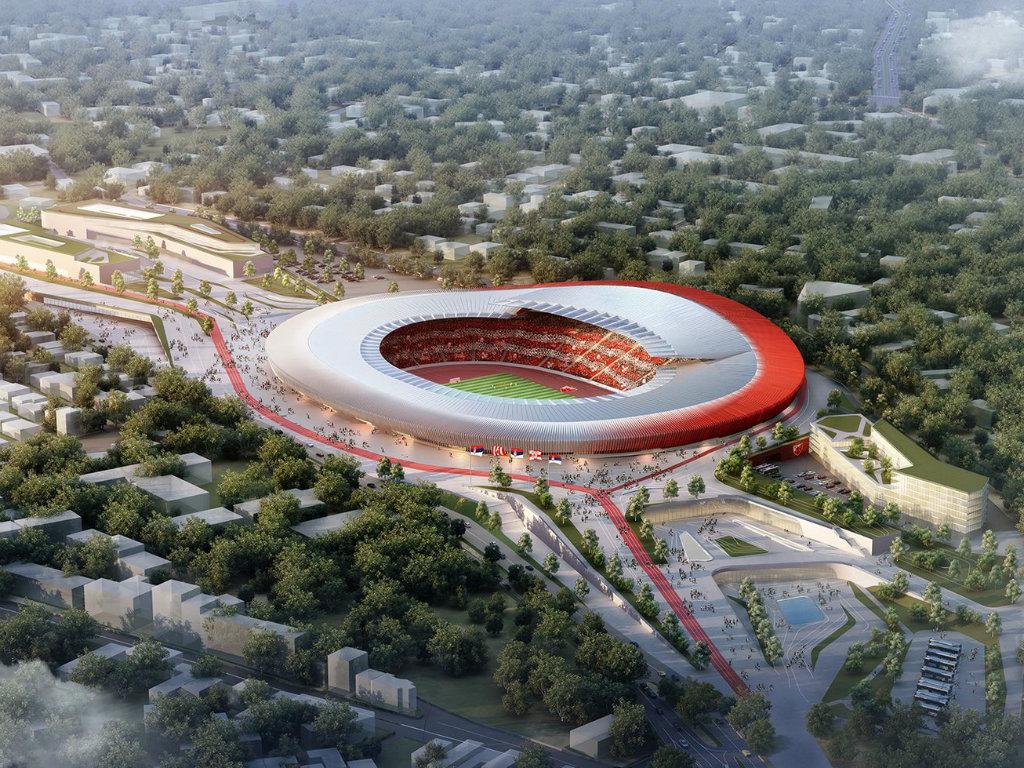 Kako će izgledati Zvezdin stadion posle obnove? - Ostaje atletska staza (FOTO)