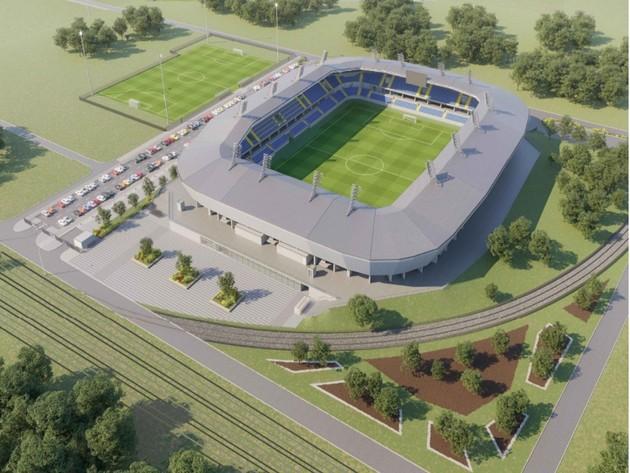 The future look of the  new stadium in Kraljevo