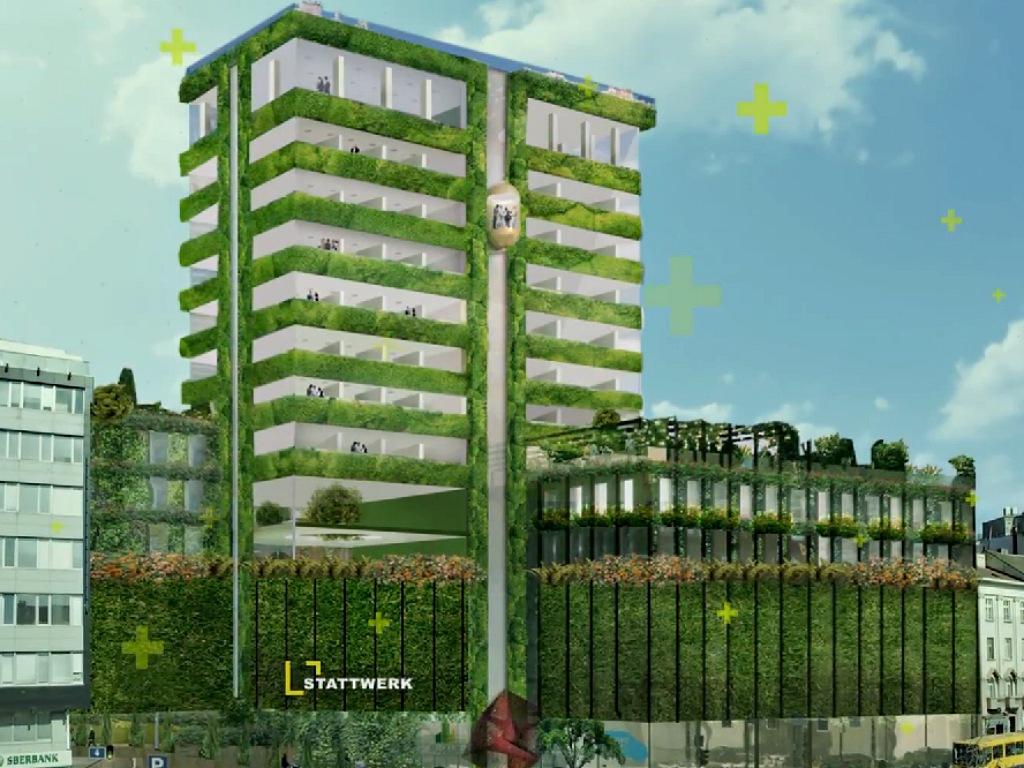 Belgrade gets the first green facade building - Stattwerk is preparing Beobanka building rehabilitation (PHOTO)