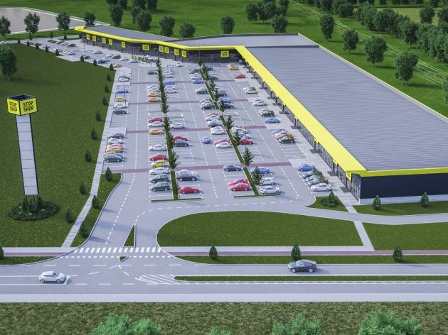 Future look of Stop Shop retail park in Vrsac