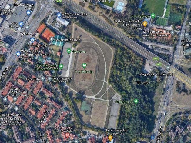 Satelitski snimak lokacije
